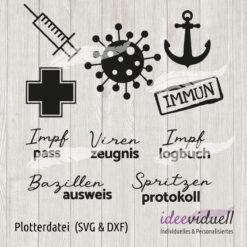ideeviduell Plotterdatei Impfpass