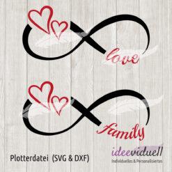 ideeviduell Plotterdatei unendlich love family