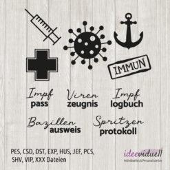 ideeviduell Stickdatei Impfpass