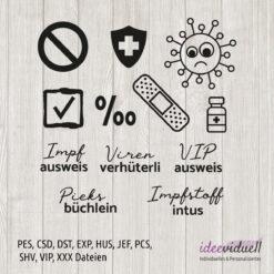 ideeviduell Stickdatei Impfpass 2