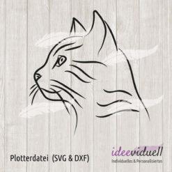 Plotterdatei Katze LineArt ideeviduell