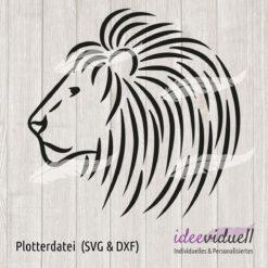 Plotterdatei Löwe LineArt ideeviduell