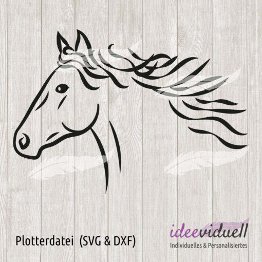 Plotterdatei Pferd LineArt ideeviduell