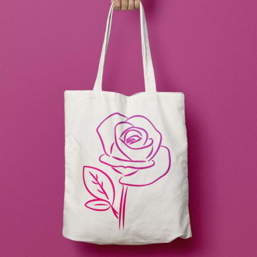 Plotterdatei Rose LineArt ideeviduell