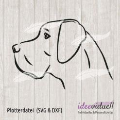 Plotterdatei Deutsche Dogge LineArt ideeviduell