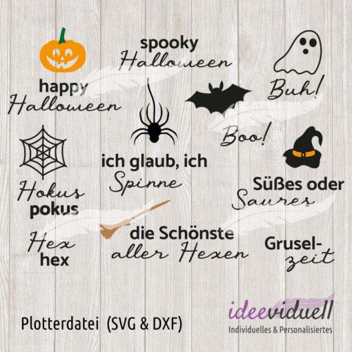 Plotterdatei Halloweensprüche ideeviduell