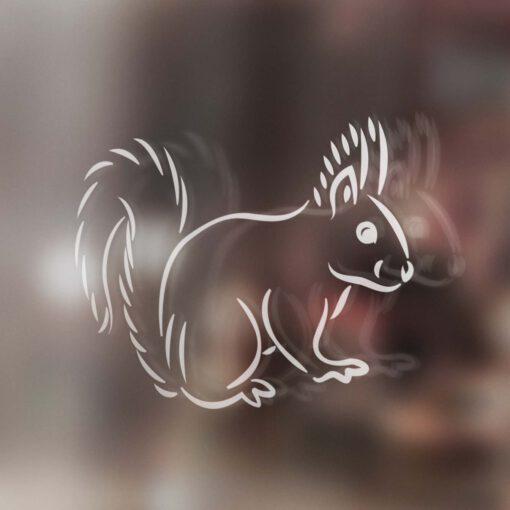 Plotterdatei Eichhörnchen LineArt ideeviduell
