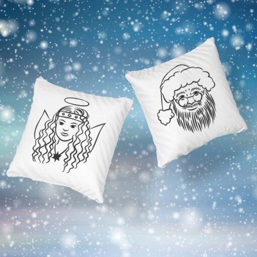 Plotterdatei Weihnachtsmann Chirstkind LineArt ideeviduell